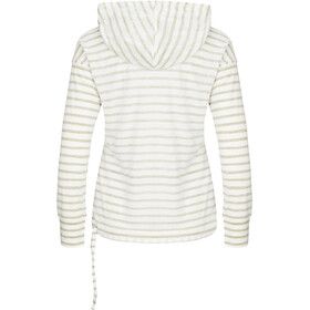 super.natural Funnel Hoodie Printed Women fresh white/bamboo fine stripe print